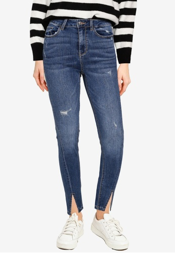 PIMKIE blue Distressed Mid Wash Jeans AE2D0AA0CD4C03GS_1
