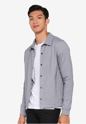 Jack & Jones grey Holm Sweater Jacket F4CECAA0A69499GS_1