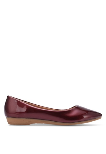 Spiffy red Young and Comfort Series Plain Flats SP352SH0S6E2MY_1