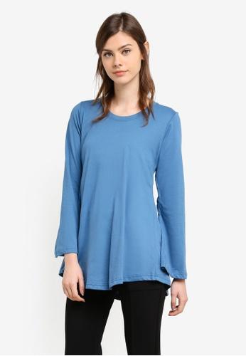 Aqeela Muslimah Wear blue Basic Top AQ371AA0S4VEMY_1