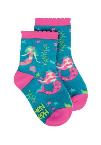 Stephen Joseph pink and green and multi Toddler Socks Mermaid C6448KAA1DFA70GS_1