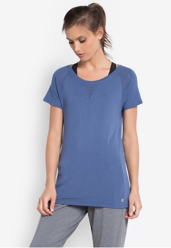 Champion blue Seamless Mesh Tee S16 04V CH632AA0KDA3PH_1