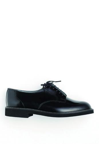 HARUTA 黑色 繫帶皮鞋 5E209SHD67309DGS_1