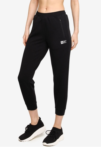 361° black Cross Training Knit Cropped Pants A4E97AAAD3D4ACGS_1