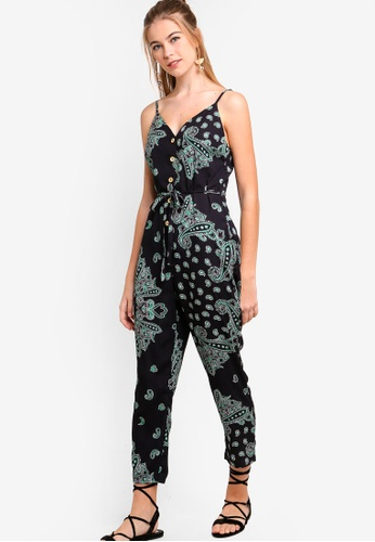 Something Borrowed black Buttoned Down Tapered Jumpsuit 8F5C0AAE5E2DF4GS_1