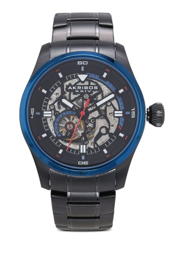 Akribos XXIV black Automatic Skeleton Watch DB994ACAD2EE19GS_1