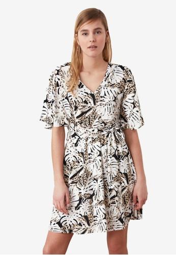 Trendyol multi V Neck Flutter Sleeve Printed Dress 13496AA00DFDEAGS_1