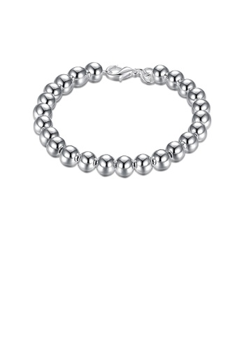 Glamorousky silver Simple Geometric Ball Bead Bracelet 2D7B8AC710F17FGS_1