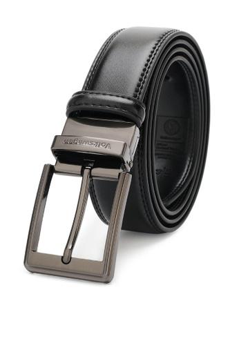 Volkswagen black Men's Belt - 35mm Reversible Belt A7D47ACB3B7C61GS_1