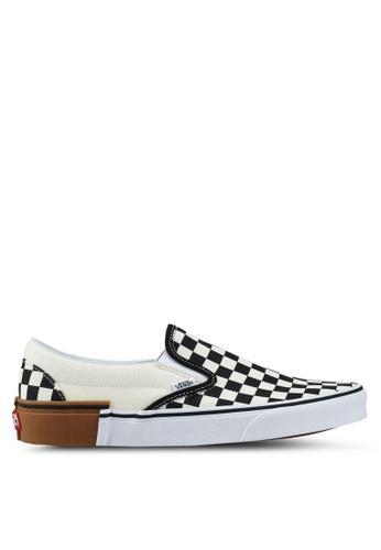 VANS black and white Slip-On Gum Block 167F6SH13FB553GS_1