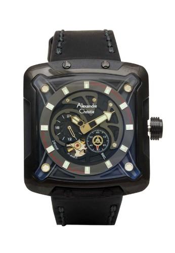 Alexandre Christie black Alexandre Christie Jam Tangan Pria - Black - Leather Strap - 3030 MALIPBA A762CACB7CA184GS_1