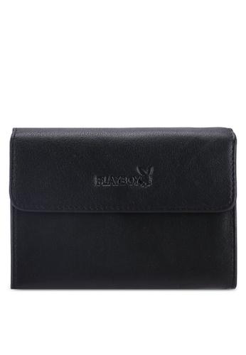 Playboy black Playboy RFID Blocking Card Holder FF9A4AC52E5EBFGS_1