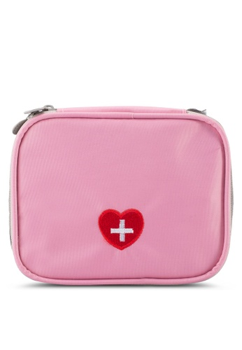 Bagstationz pink Travel First Aid Organizer Pouch BA607AC67SDSMY_1