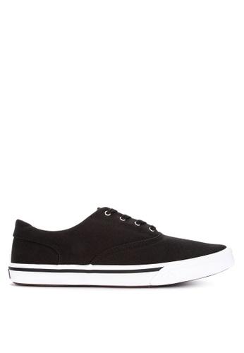 Sperry black Striper II CVO Saturated Sneakers E5B69SH4E59D9FGS_1