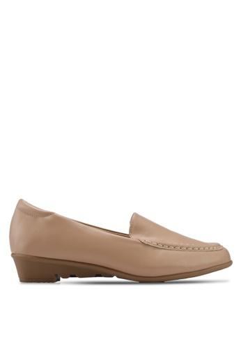 Alfio Raldo brown Pleather Loafers F9DDCSH7E9AD17GS_1