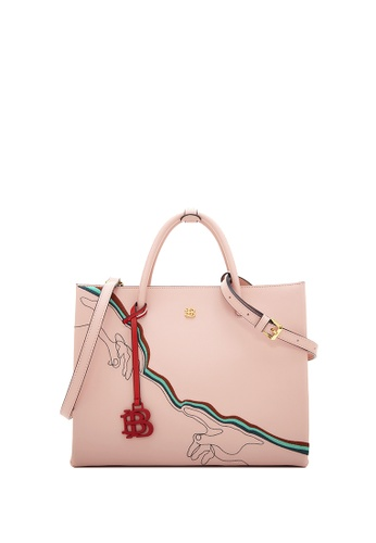 BONIA pink Blush Pink Fexmy Traveller Tote CAD80AC4D85524GS_1
