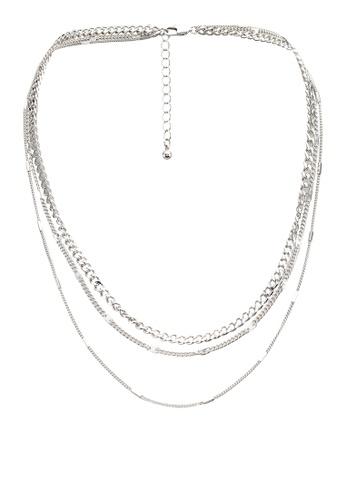 Pieces silver Folola Combi Necklace 50CFDACB0E8993GS_1