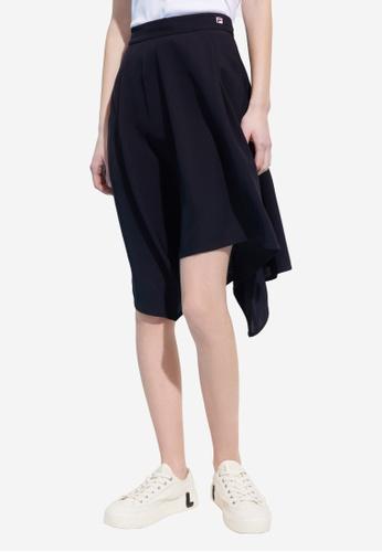 FILA navy Online Exclusive F-box Logo Asymmetric Skirt B19ABAAA177220GS_1