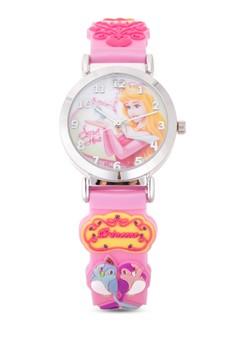 Disney Princess Girls Pink Rubber Strap Watch TG-3K1119P-PS-060PK