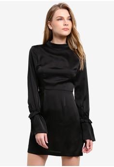 harga Cue The Beats Long Sleeve Dress Zalora.co.id