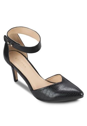 動物紋側鏤空中跟鞋, zalora 內衣女鞋, 鞋