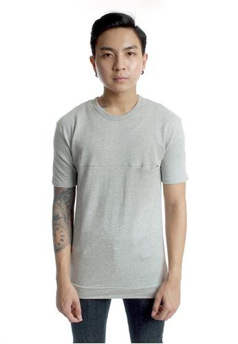 Praise grey Short Sleeves Sweat Shirt PR067AA59KKMSG_1