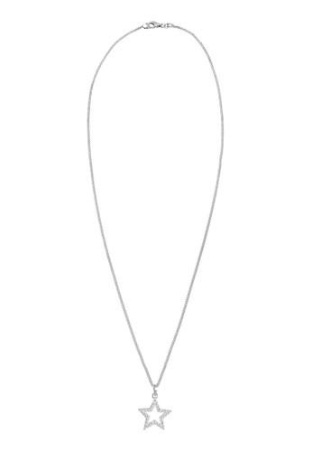 施華洛世esprit outlet台北奇水晶星形 925 純銀項鍊, 飾品配件, 項鍊