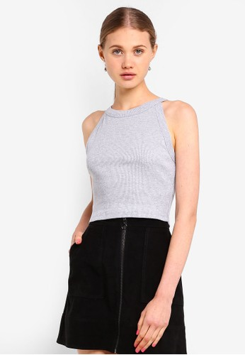 Supre grey Courtney Cutaway Rib Top 13474AA38B8B8BGS_1