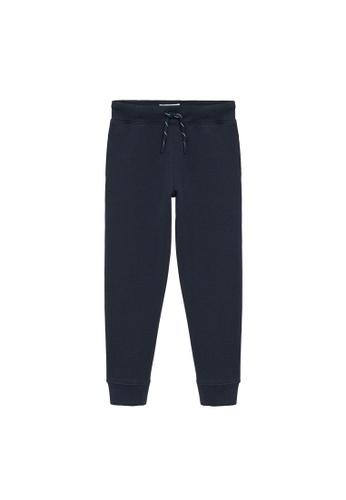 MANGO KIDS blue Cord Organic Cotton Joggers 64956KA6D25B74GS_1