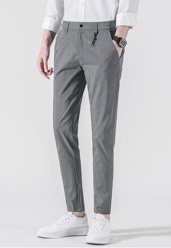 Trendyshop grey Stripe Slim Suit Pants 4D269AA16017FBGS_1