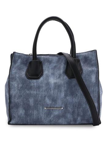 Nose blue Casual Duo Tone Tote Bag NO327AC64SOHMY_1