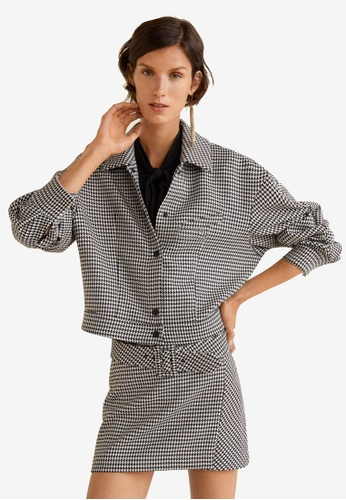 Mango black Houndstooth Jacket DF40FAA16F737CGS_1