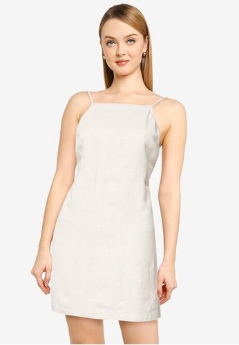 ABERCROMBIE & FITCH beige Open Back Slip Short Dress 6BDF1AA1B8AE5FGS_1
