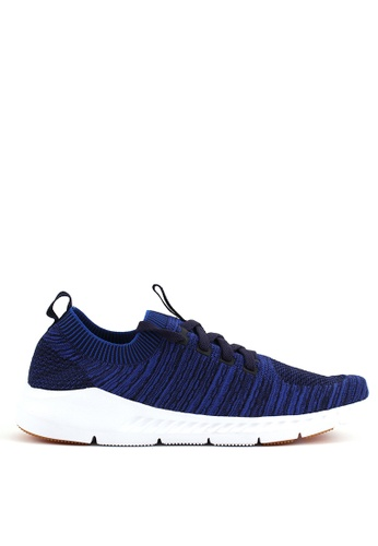 World Balance blue Weave Strider Mens Sneakers 8CBD4SHD01DB62GS_1