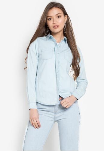Stylistic Mr. Lee blue Long Sleeves Denim Collared Shirt MR206AA0KEU6PH_1