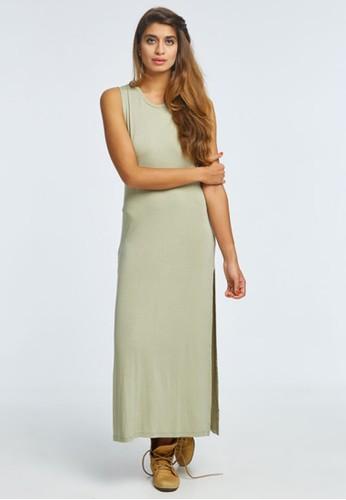 Blood & Bone green and beige TWISTED DRESS OLIVE F5985AA1335B43GS_1