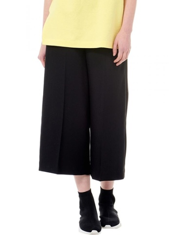 VOV(Voice of Voices) black Black Palazzo Trousers AAF44AAC67A4A6GS_1