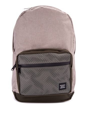 Herschel green and beige Pop Quiz Backpack HE958AC0JPXMPH_1