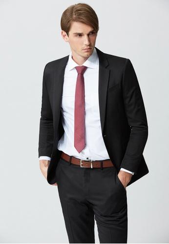 Life8 black Business Casual Slim Suit-11096-Black LI286AA78EHPMY_1