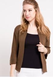 Noir Sur Blanc brown Ladies Cardigan 3/4 Sleeve W NO321AA50DQFID_1