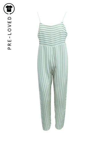Reformation white Pre-Loved reformation Oversized Striped Jumpsuit E1559AA2162865GS_1
