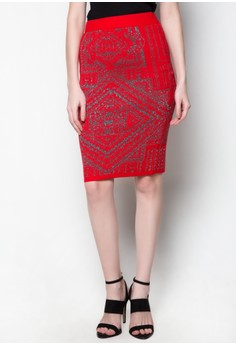Midi Knitted Skirt Trina Printed Design