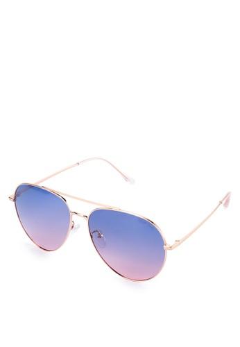 Urban State gold Polarized Metal Retro Fashion Aviator Sunglasses 6A831GL0ABB720GS_1