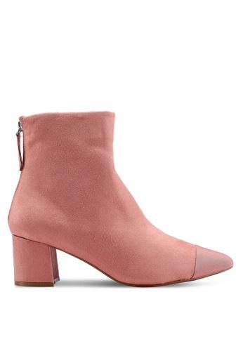TOPSHOP 粉紅色 高跟踝靴 4014DSHEBC7868GS_1