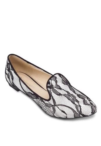 蕾絲esprit 羽絨外套鉤花樂福鞋, 女鞋, 鞋