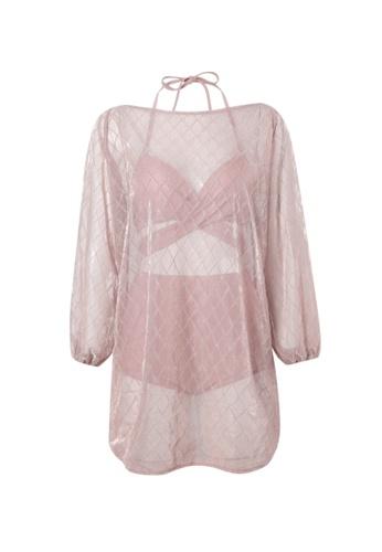 YG Fitness pink (3PCS) Sexy Gauze Bikini Swimsuit A23C0US8DF5CF4GS_1