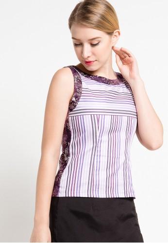 Bateeq purple Sleeveless Cotton Print Blouse BA656AA16DNRID_1