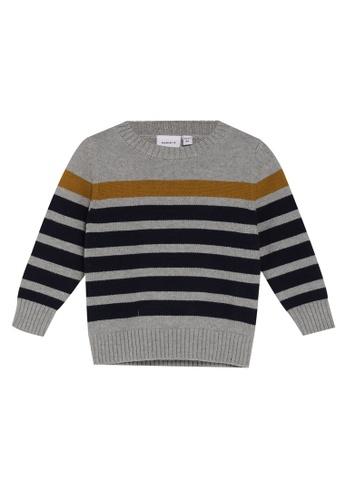 NAME IT grey Nafalle Long Sleeves Knit Jumper 49FE6KA2B72C7BGS_1