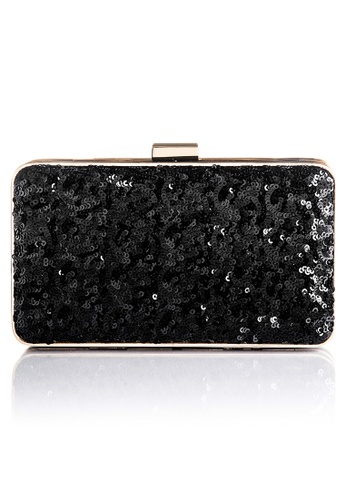 The Chic Initiative black Danielle Sequined Clutch (Black) TH778AC0T0OOMY_1