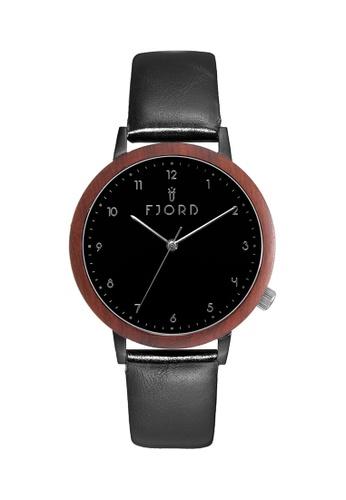 Fjord black Fjord Women's Genuine Leather Watch - FJ-6049-02 1A284AC3A7ACA5GS_1